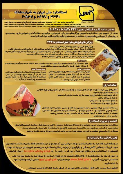 پوستر آموزشی استاندارد جعبه مقوایی مواد خوراکی